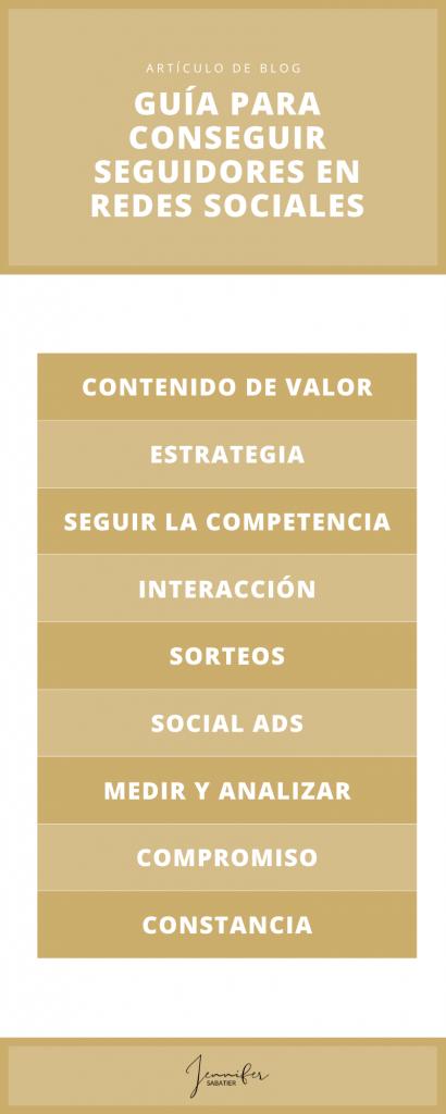 Infografía: Guía para conseguir seguidores en redes sociales
